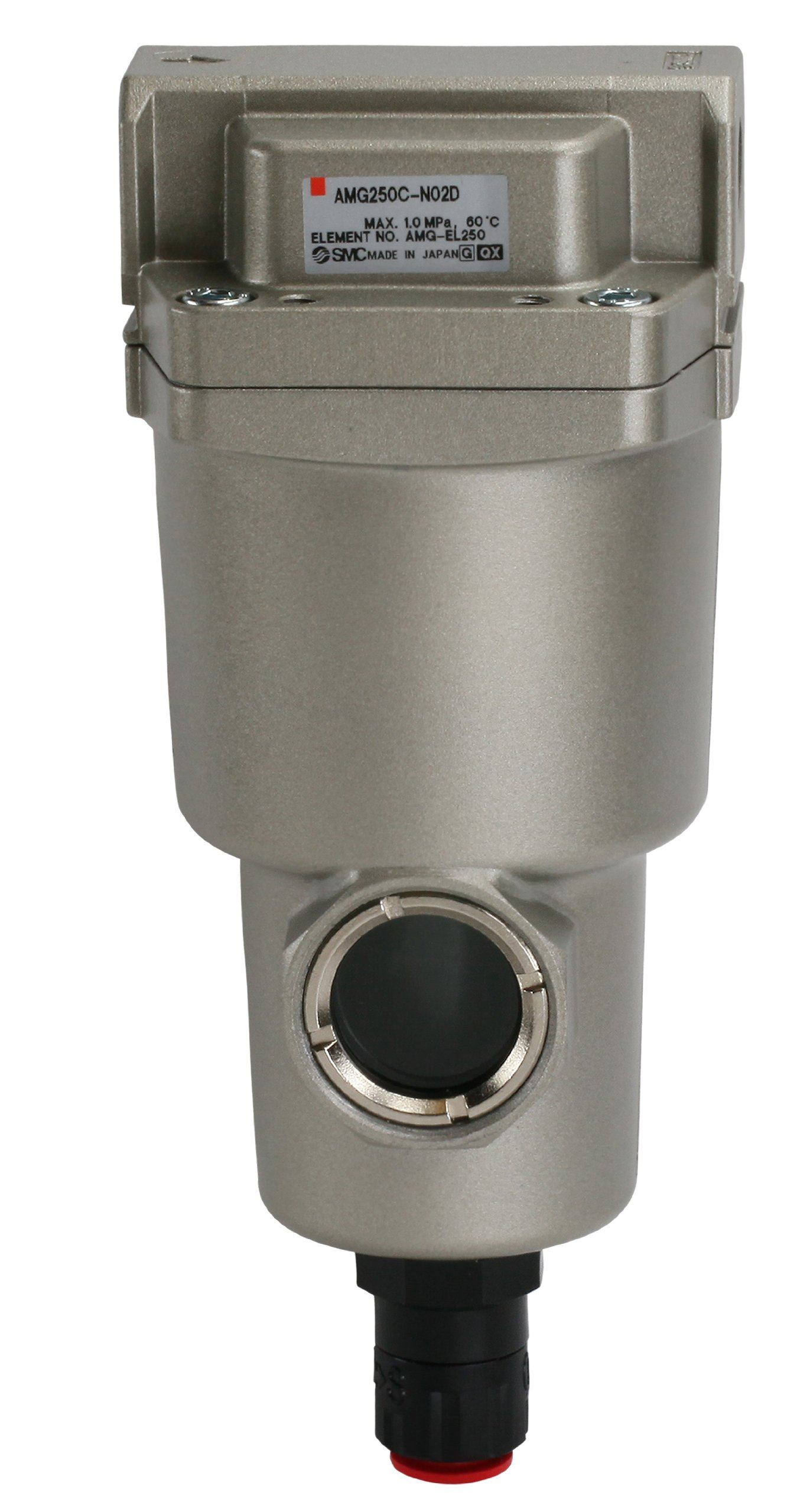 SMC AMG250C-N03D Water Separator, N.O. Auto Drain, 750 L/min, 3/8'' NPT