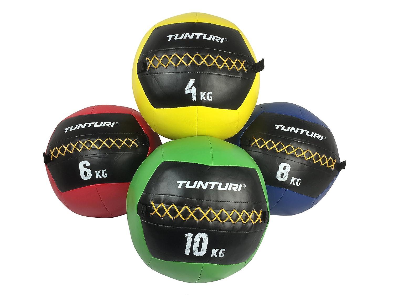 Tunturi Functional Fitness Balle Murale Wall Ball Crossfit 4kg Jaune Mixte Adulte 1 Yellow