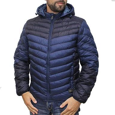 100% echt Größe 40 ganz nett POOLMAN Steppjacke mit abnehmbarer Kapuze dunkelblau (XL ...