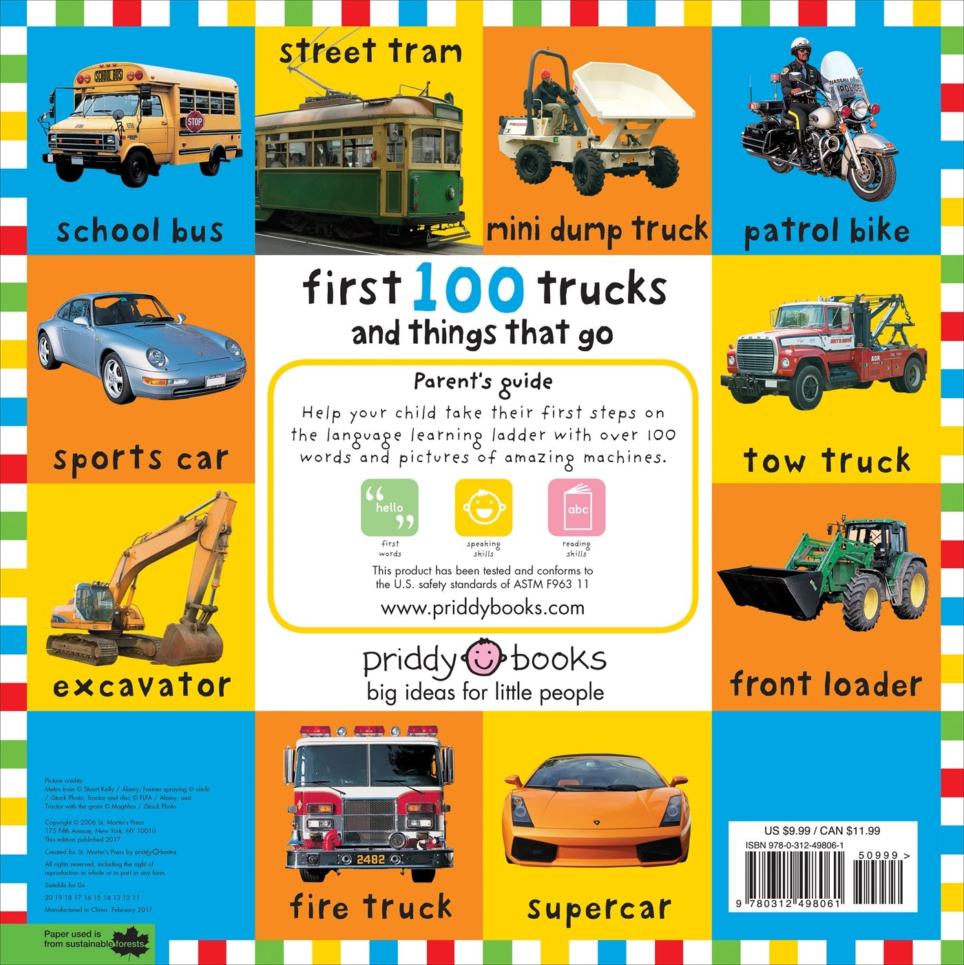 Big Board First 100 Trucks And Things That Go: Roger Priddy: 9780312498061:  Amazon: Books