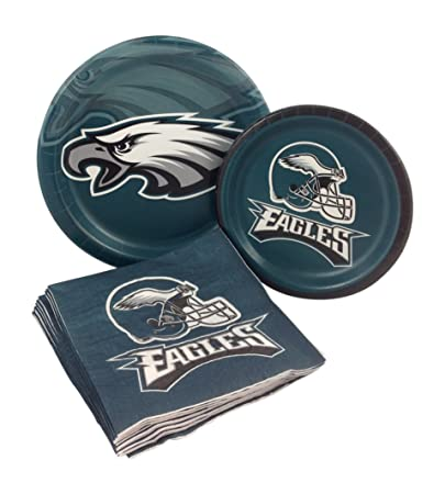Philadelphia Eagles Football Party Supply Pack! Bundle Includes Paper Plates \u0026 Napkins for 8 Guests  sc 1 st  Amazon.com & Amazon.com: Philadelphia Eagles Football Party Supply Pack! Bundle ...