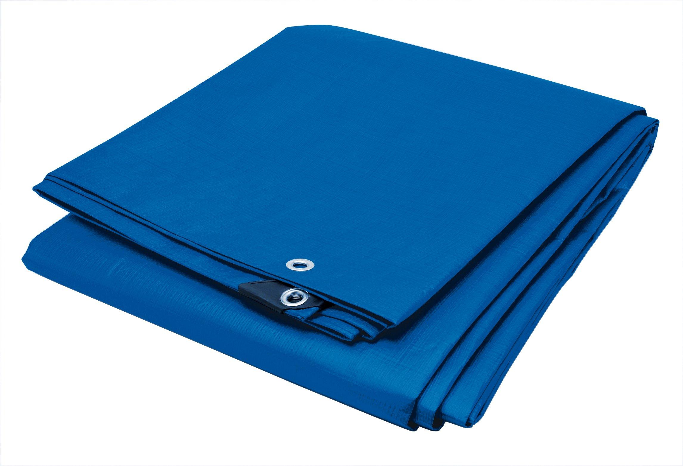 Performance Tool W6009 Reinforced Water Resistant Multi Purpose Blue Tarp, 4mil, 10-Feet x 20-Feet