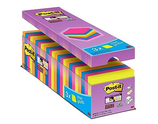17 opinioni per Post-it Confezione Risparmio Foglietti Post-it Super Sticky Colorati, 76 x 76