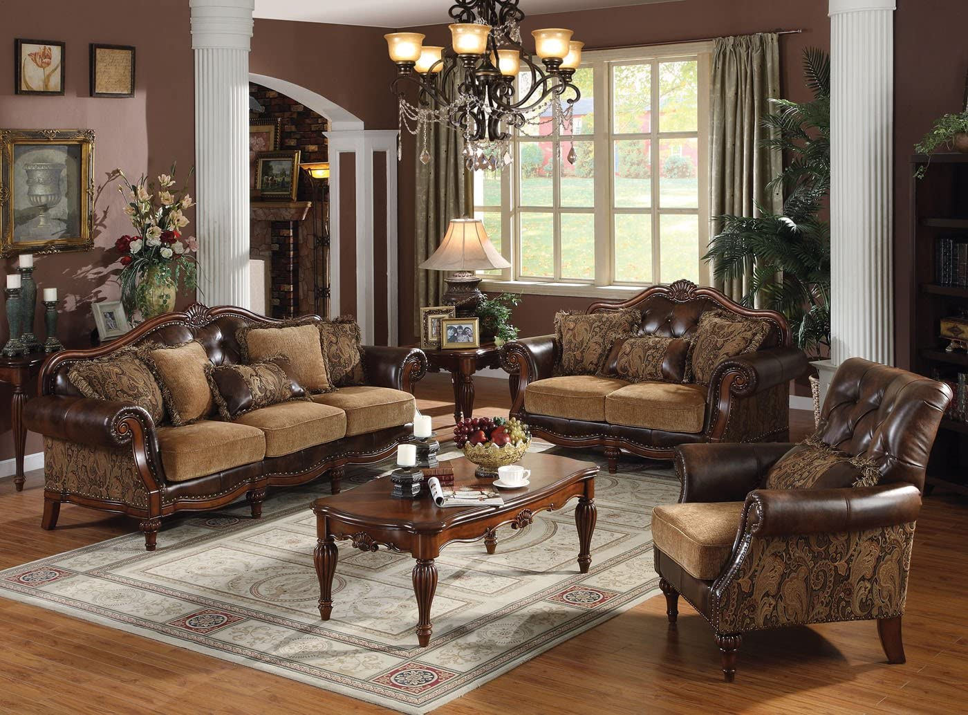 Dreena Collection 3pc Set: Sofa, Loveseat & Chair
