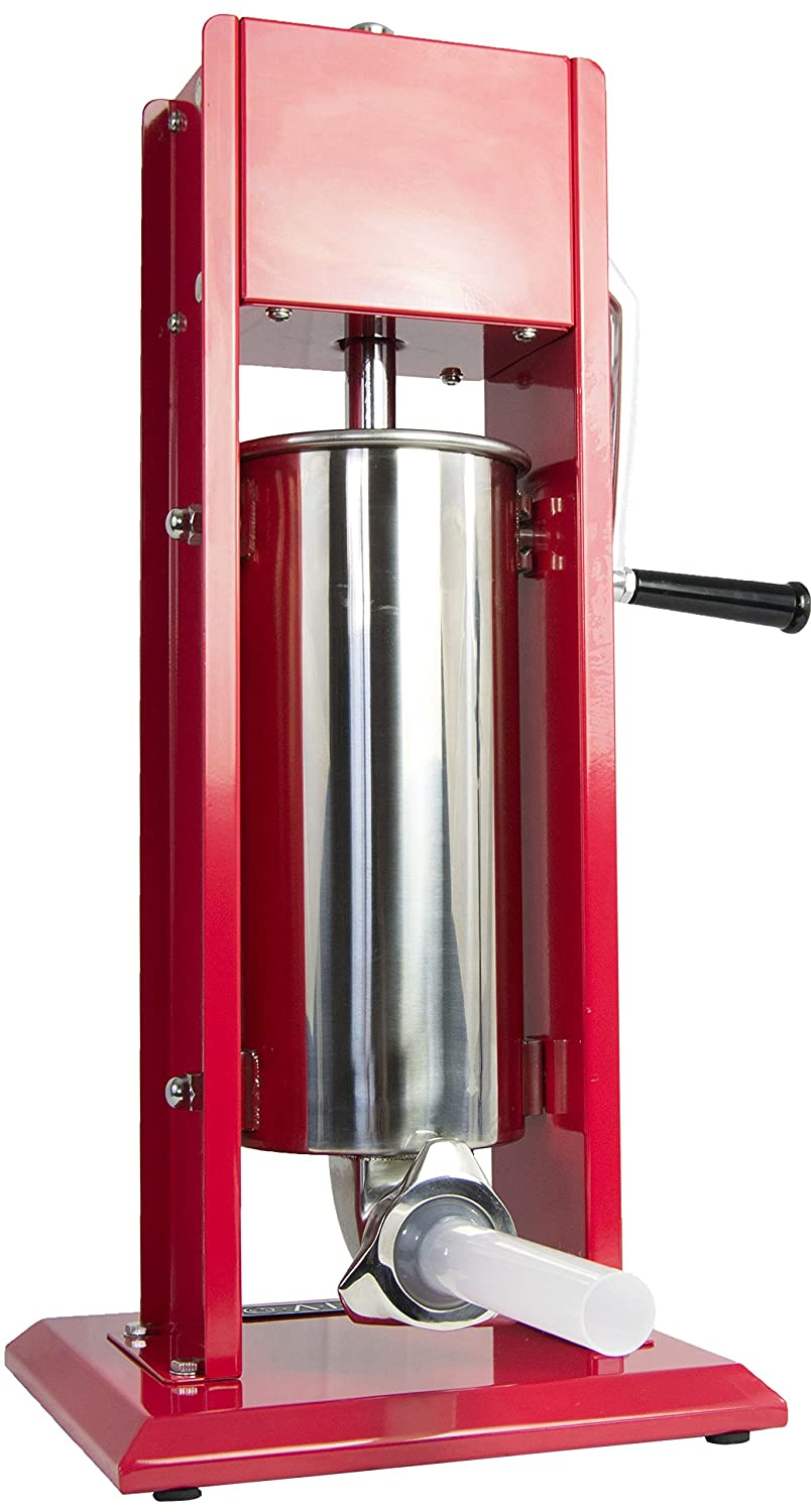 VIVO Sausage Stuffer Vertical Two (2) Speed Stainelss Steel 5L/11LB 11 Pound Meat Filler (STUFR-V205)