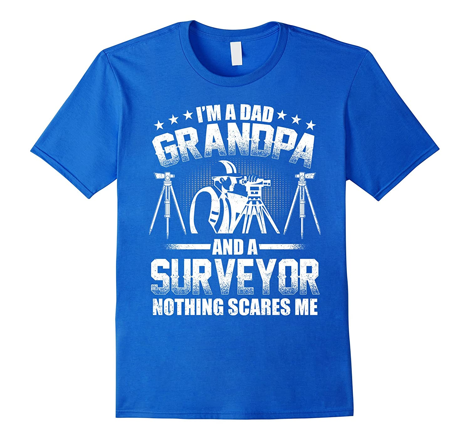 I'm A Dad Grandpa T-Shirt Surveyor Father's Day