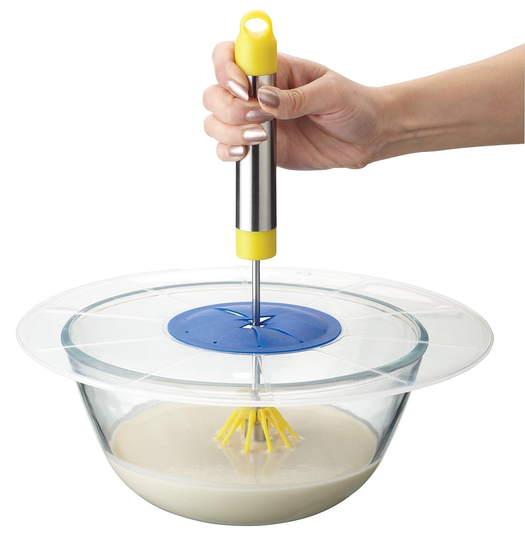 KitchenCraft Multi-Purpose Microwave Splatter Screen 12 Mixing Bowl Splash Guard 30 cm
