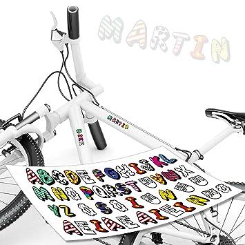 Style4bike Buchstaben Aufkleber Set 46 Buchstaben Namen