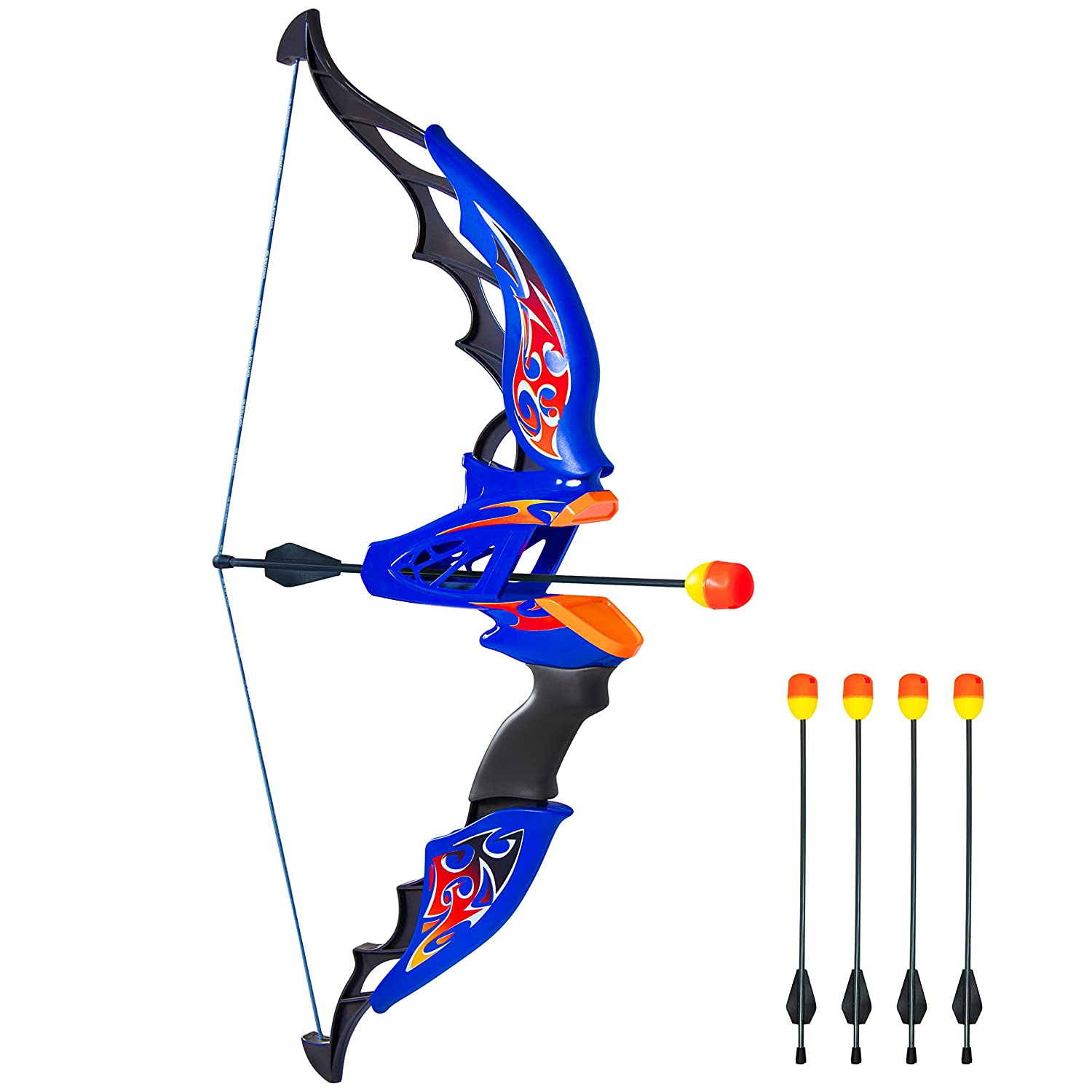 Best Choice Products Kids Toy Archery Bow And Arrow Set With Bow, 4 Soft Foam Dart Arrows