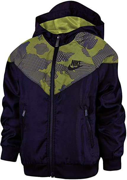 4bfcc9d433 Amazon.com: Nike Little Boys' Windrunner Full-Zip Jacket ...