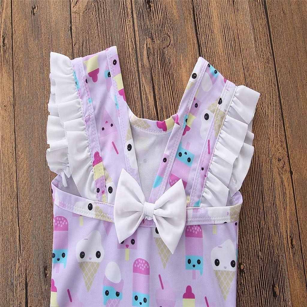 2019 Hot Sale Cuekondy Toddler Baby Girls Kids Cute Ice-cream Printed One Piece Swimsuit Swimwear Bathing Suit Beachwear