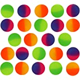 Icy Super Balls - 32mm Vibrant Two Tone Color Bouncy Balls 24 pack