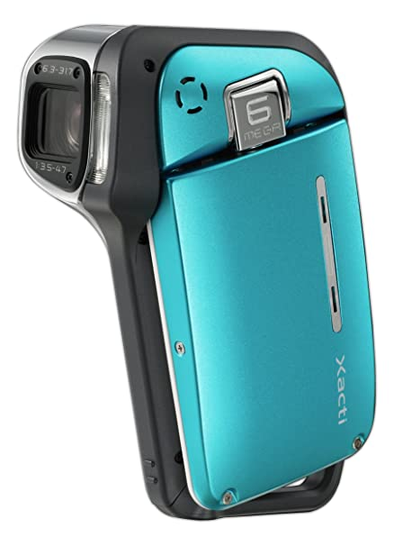 Amazon Sanyo Xacti VPC E1 6MP Waterproof MPEG4 Camcorder With 5x Optical Zoom Blue Discontinued By Manufacturer Camera Photo