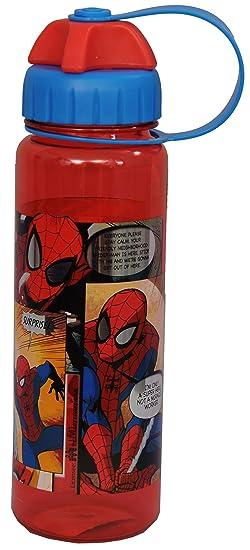Marvel Spiderman Plastic Sipper Bottle, 550ml, Red/Blue