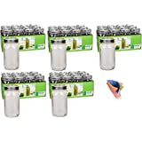 Ball Wide Mouth Quart 32 oz Jars with Lids and Bands, Set of 12 (Pack of 5) Made in USA + FREEBIES