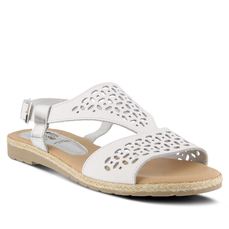 Spring Step Women's Creshia Flat Sandal B079QLD1LT 42 M EU (US 10.5-11 US)|White