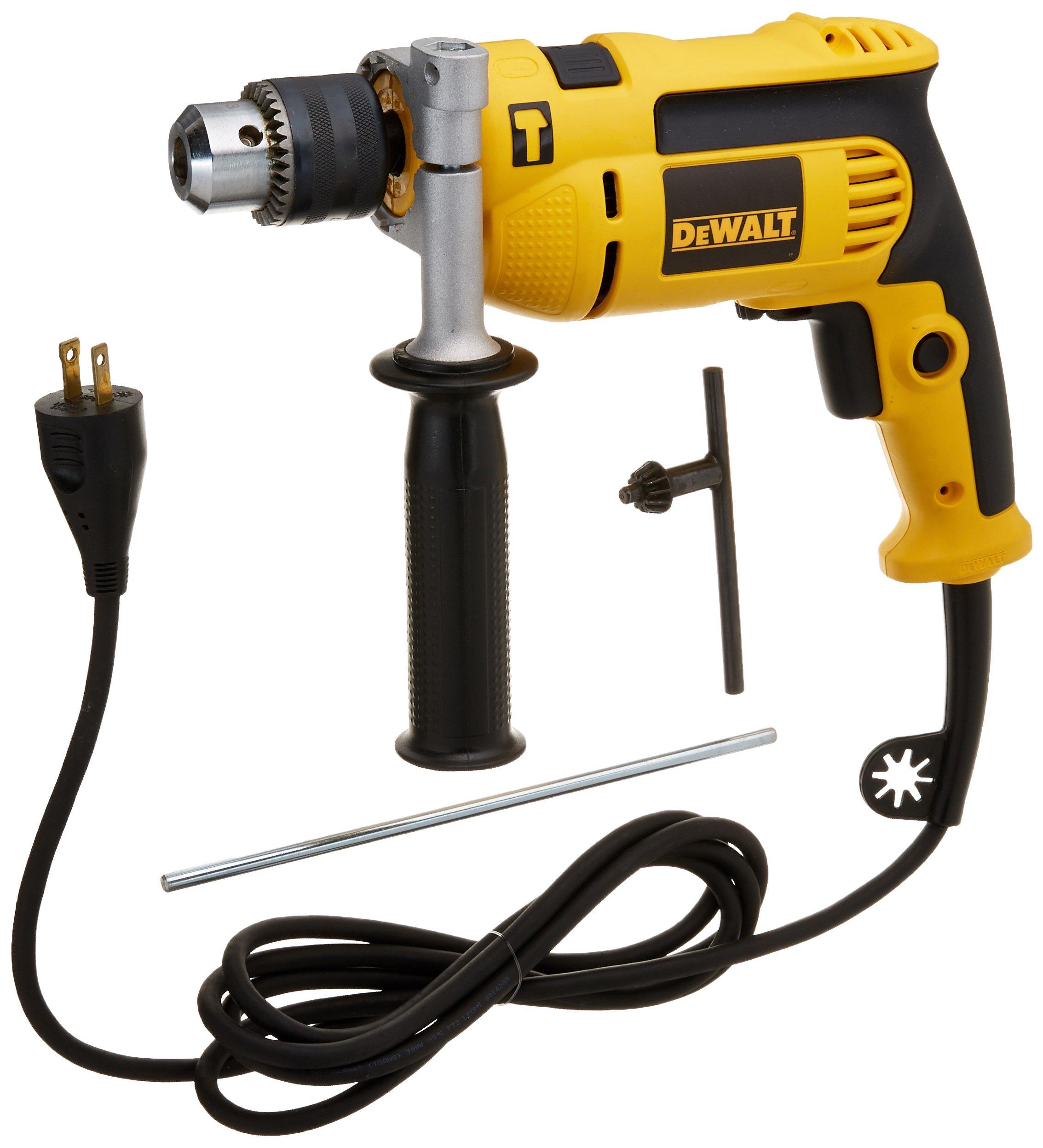 Dewalt DWE5010R 7 Amp 1/2 in. VSR Single Speed Hammer Drill Kit (Certified Refurbished)
