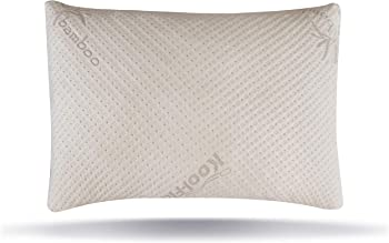 Snuggle-Pedic Bamboo Shredded Memory Foam Pillow with Pillow Cover