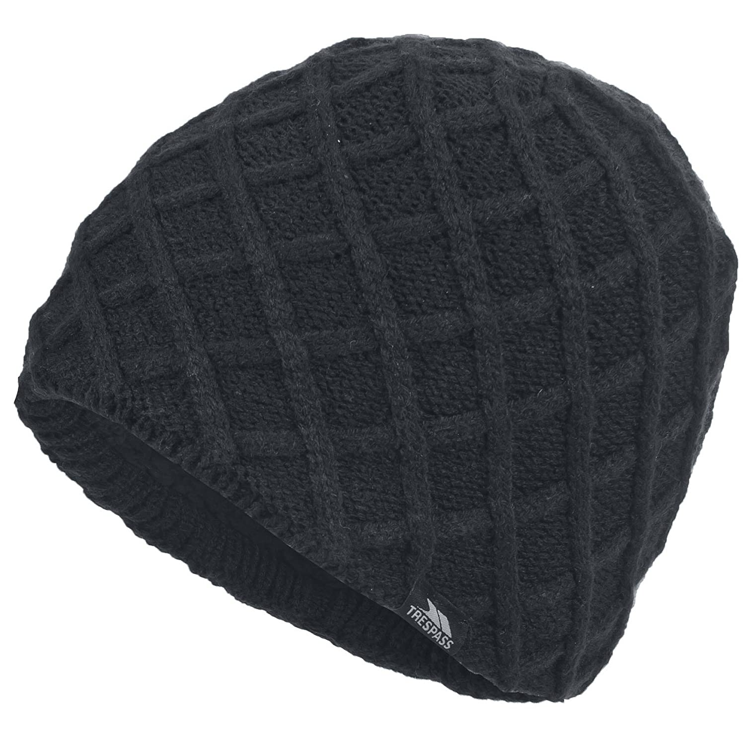 Trespass Mens Abel Knitted Winter Beanie Hat (One Size) (Black) UTTP832_1