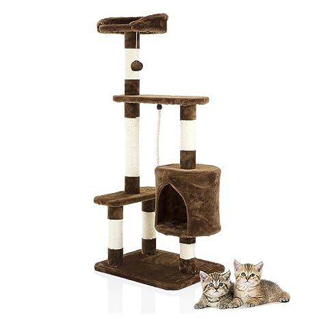 Cozy Pet Deluxe - Rascador de árbol de gato multinivel con centro de actividades para rascar