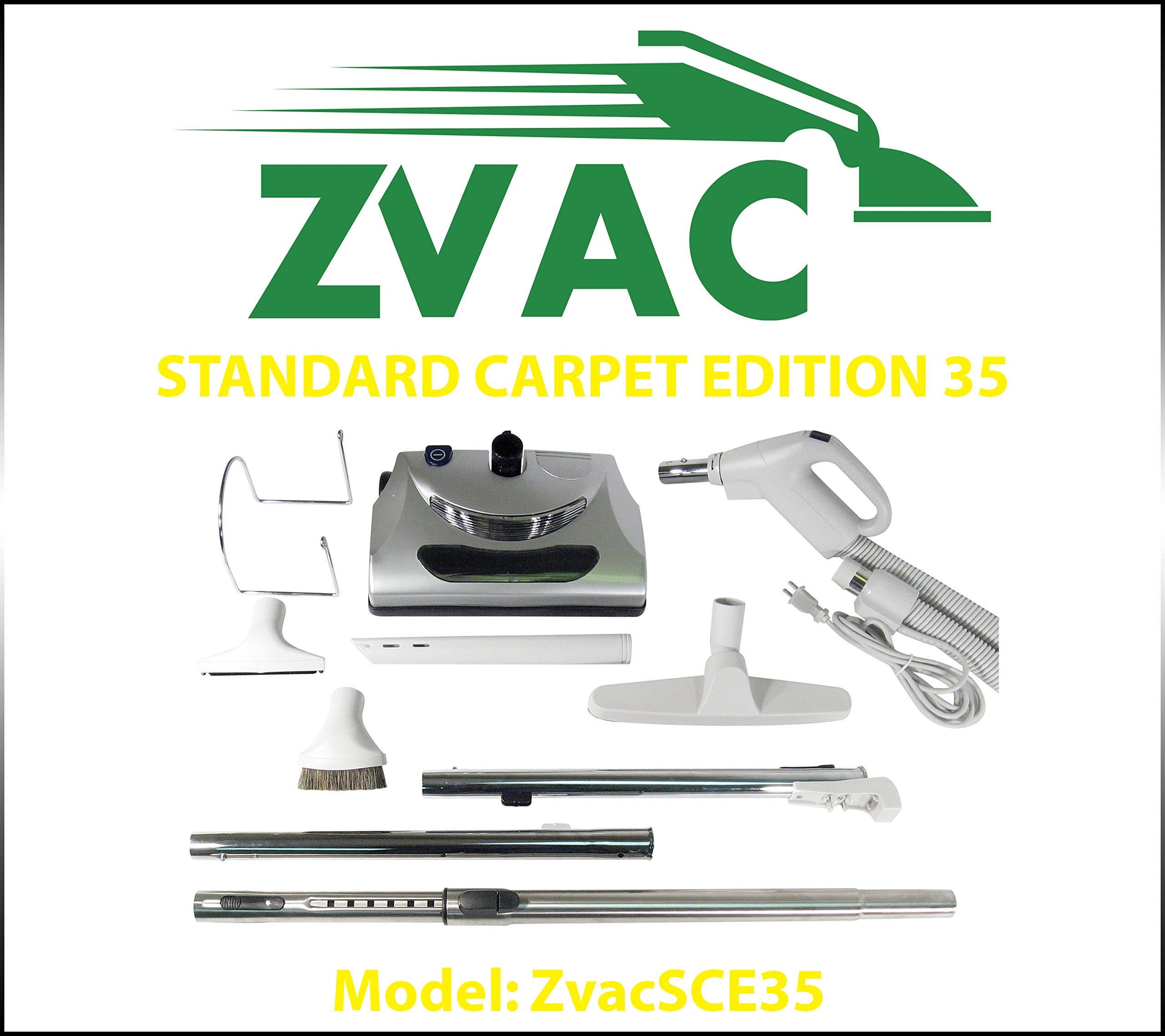 ZVac Standard Carpet Edition 35 - Central vacuum attachment kit for homes with carpets and hardwood floor. Model: ZVacSCE35