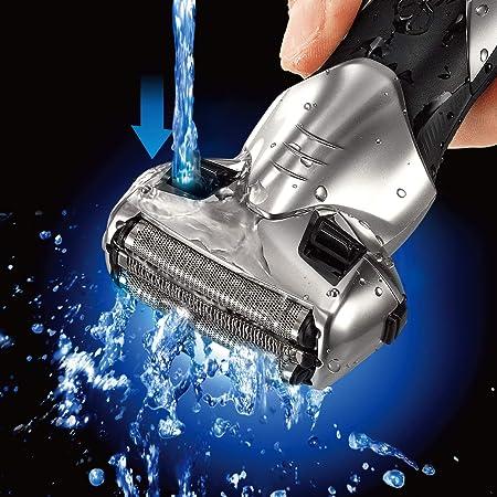 Panasonic ES-SL33-S503 - Afeitadora eléctrica para hombre, Wet&Dry, recargable, 3 hojas de acero inoxidable, 13.000 oscilaciones, 100% lavable, plata