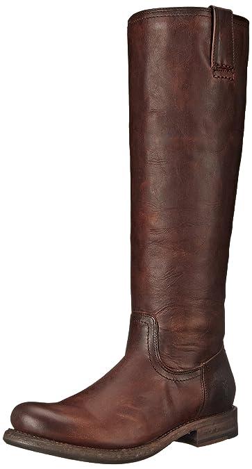 FRYE Womens Jenna Inside Zip Riding Boot       Dark Brown