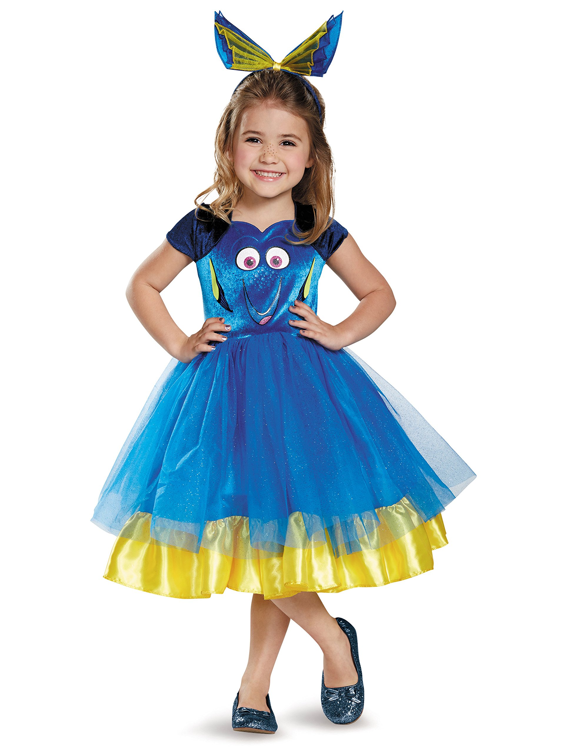 Deluxe Disney Finding Dory Blue Fish Costume Girls Fancy Dress