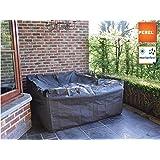 Perel Garden OCLS-L Schutzhülle Für Lounge-Set-L, Schwarz, 300 x 300 x 75 cm