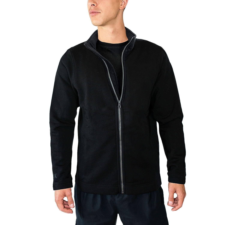 WoolX Men's Merino Wool Sweatshirt Jacket - 100% Merino Wool - Extremely Warm X711
