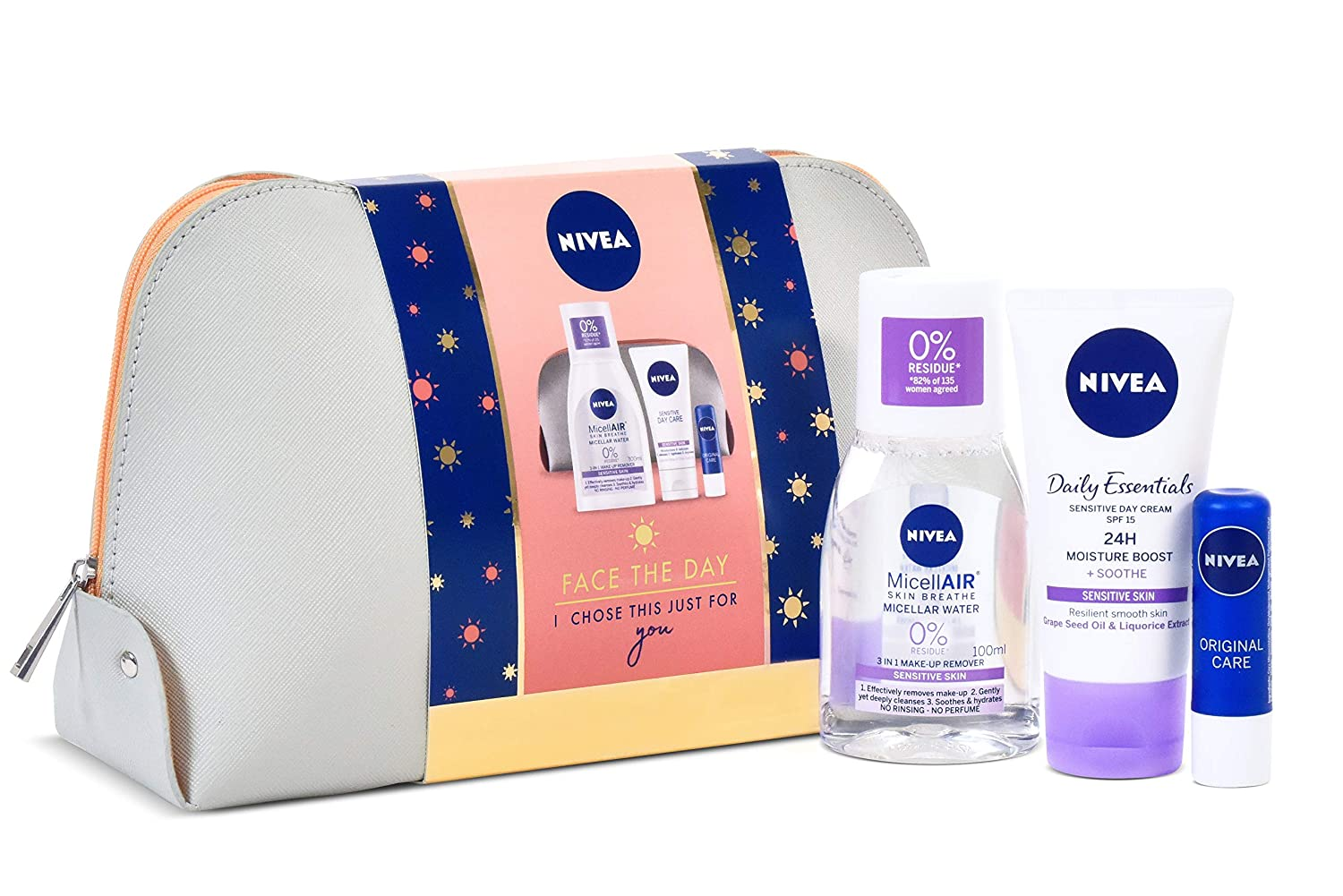 Nivea Gift Set, Face the Day Gift Pack for Her with 3 Items Beiersdorf 72669-03997-00