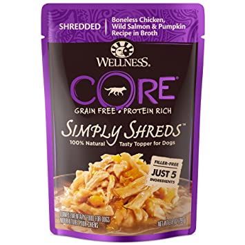 Wellness Core Simply Shreds Natural Grain Free Wet Dog Food Mixer Or