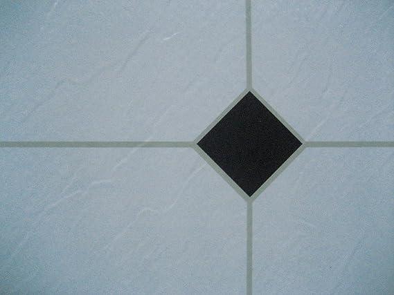 Piastrelle adesive in vinile pezzi colore bianco nero