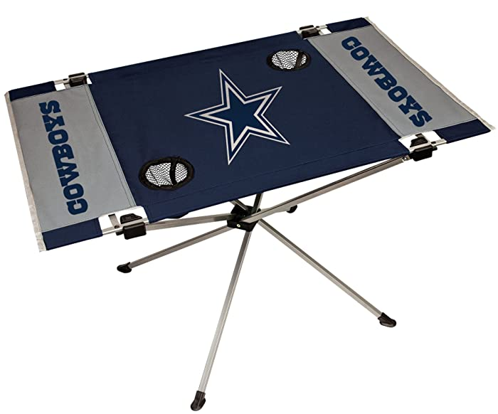 NFL Portable Folding Endzone Tailgate Table, 31.5 in x 20.7 in x 19 in (All Team Options)