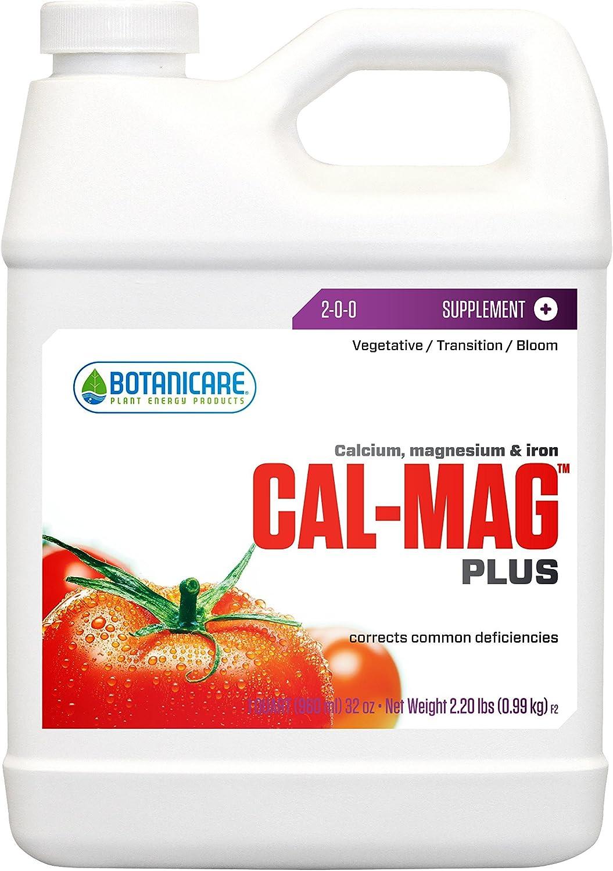 Botanicare HGC732110 Cal-Mag Plus Calcium Magnesium & Iron Plant Supplement, Quart