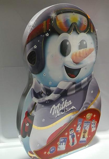 Milka Snow Mix - Calendario de Adviento con mezcla de leche alpina y chocolate