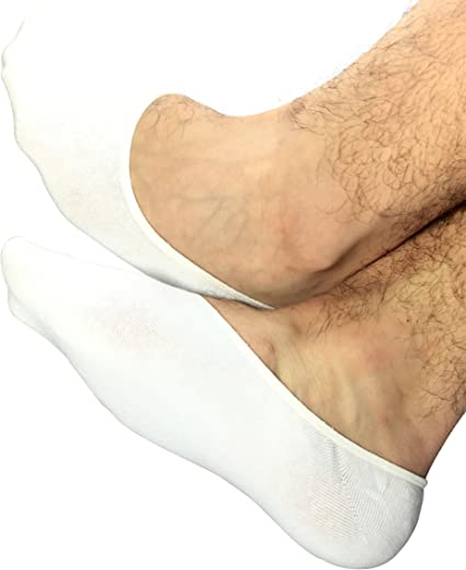 OSABASA Men No Show Loafer Socks 5SETKMMS019 Boat Shoe Liners Non-Slip Grip BEIGE XL