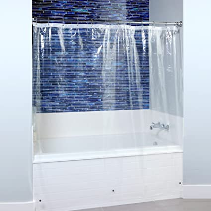 SlipX Solutions Mildew Resistant Clear Shower Curtain Liner With Microban Antimicrobial Protection 100 PEVA
