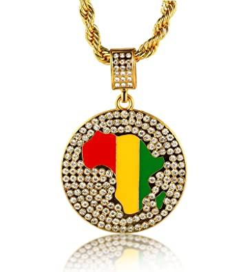outlet sale halukakah 18k real gold plated africa map pendant