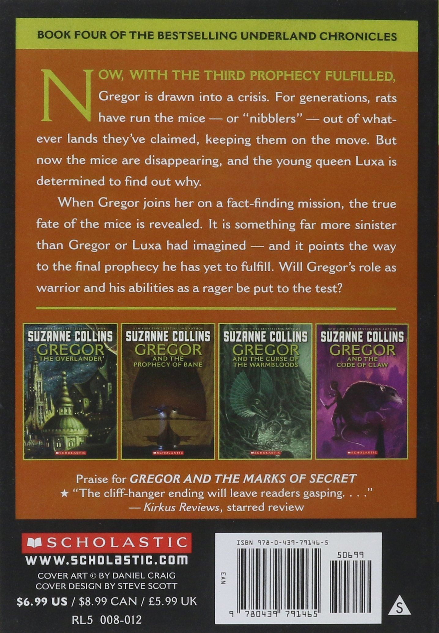 Gregor And The Marks Of Secret (underland Chronicles, Book 4): Suzanne  Collins: 9780439791465: Amazon: Books