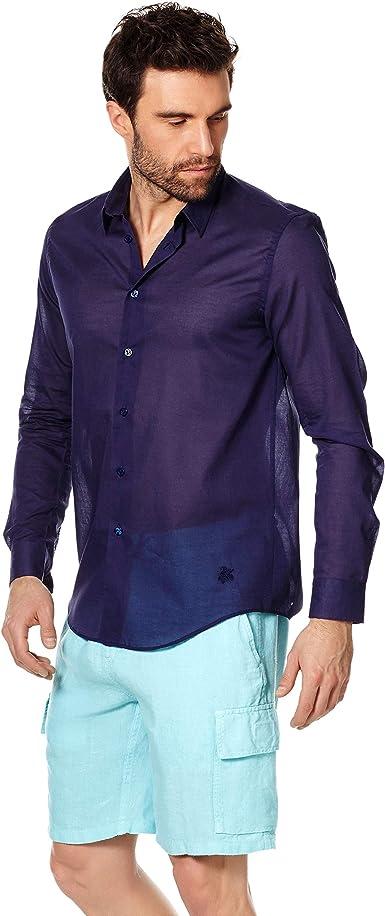 VILEBREQUIN - Camisa en Velo de algodón de Color Liso Unisex ...