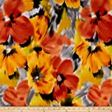Telio Brazil Stretch ITY Knit Floral Yellow Fabric By The Yard