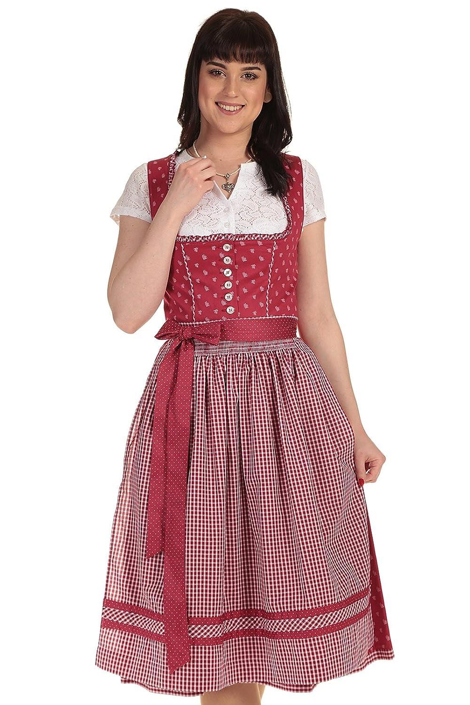Turi Landhaus Damen Dirndl Midi Dirndl kurz Baumwolle D811071 Heidi 9284 70cm Deiser
