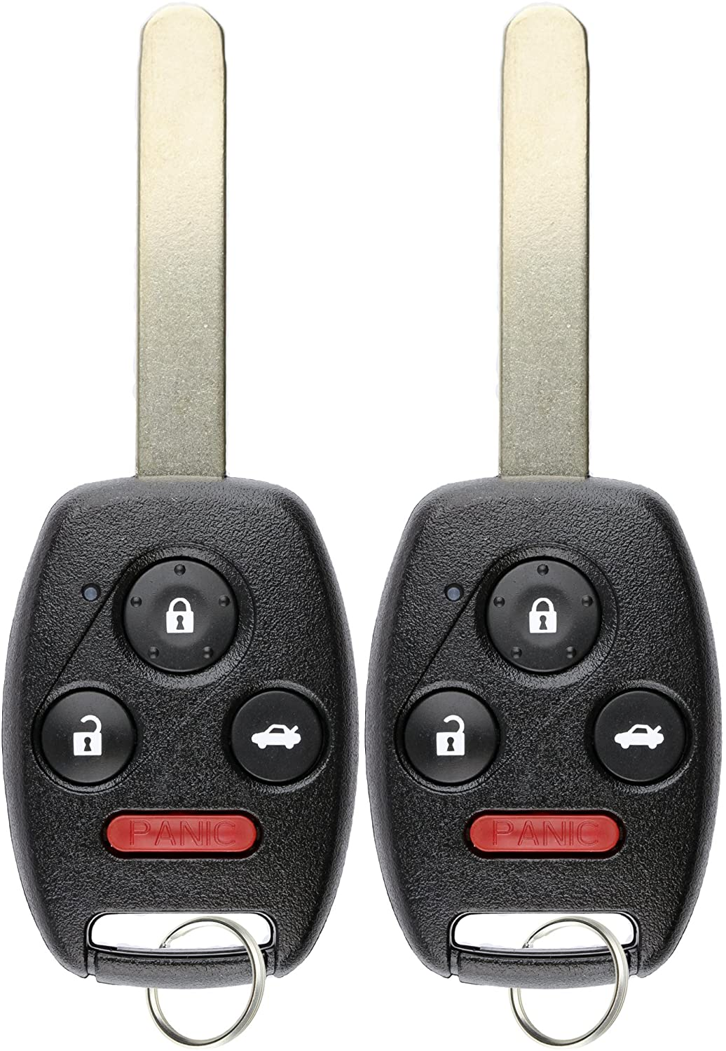 2 New Replacement 4 But Uncut Remote Head Ignition Key Keyless Entry Combo Fob