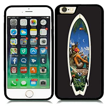 IPHONE 6 4.7` CARCASA DE MOVIL GEL FUNDA MOVIL J163 TABLA DE SURF HAWAI CHICA