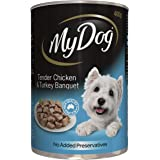 MY DOG Chicken and Turkey Wet Dog Food 400g Can, 24 Pack