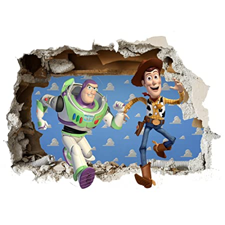 Toy Story Wall sticker Vinyl wall art 2 SIZES for cars bikes ...