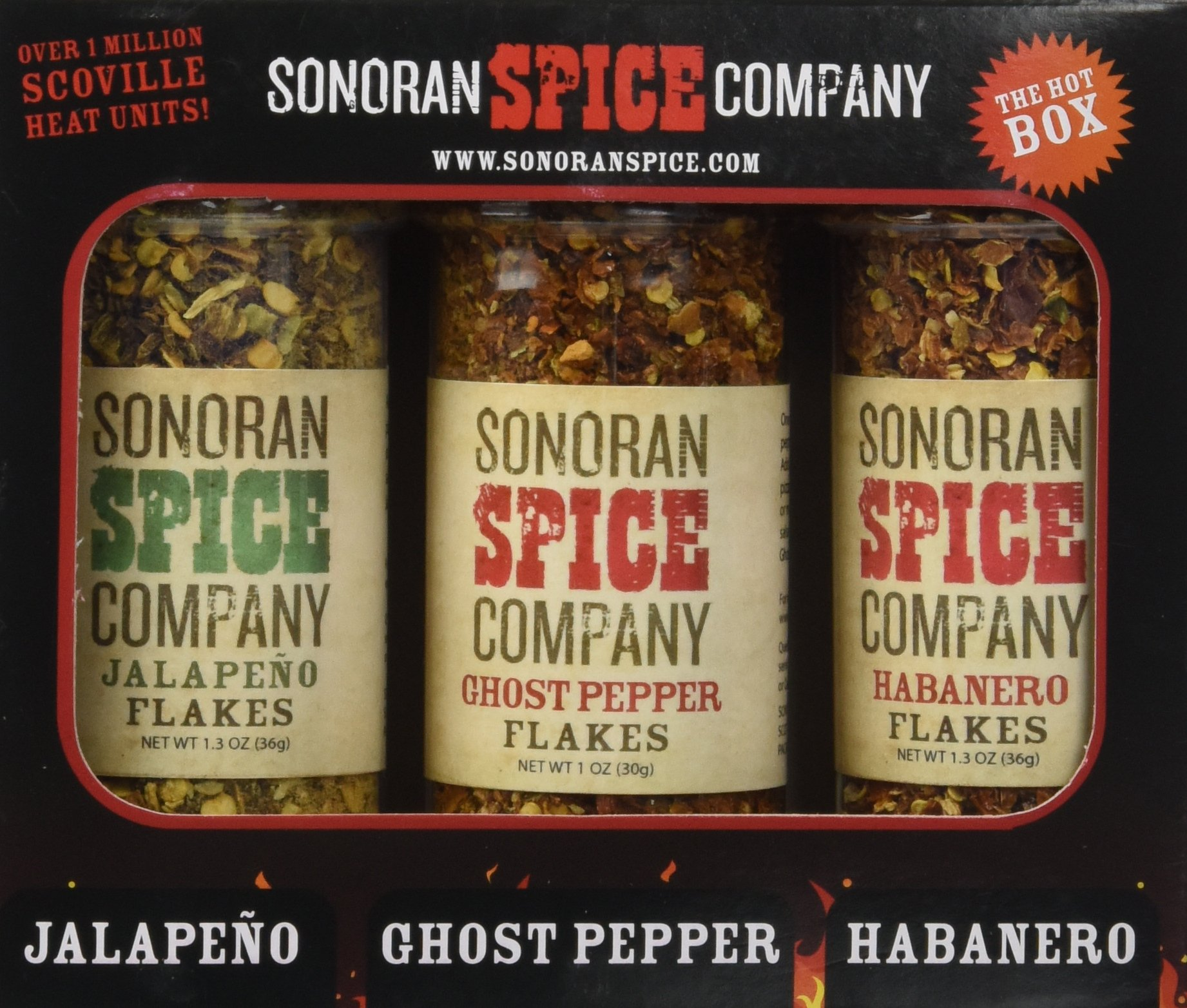 Sonoran Spice Ghost Pepper - Habanero - Jalapeno Flakes 3 Pack