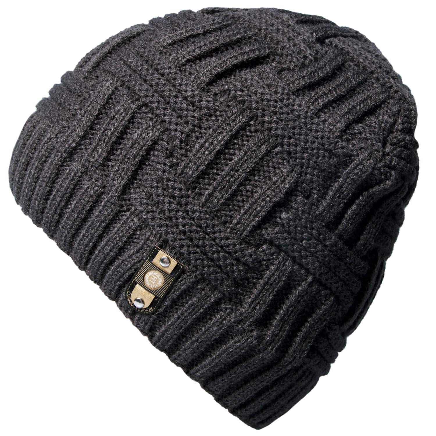 Loritta Mens Winter Warm Knitting Hats Wool Baggy Slouchy Beanie Hat Skull Cap CLT-023-1
