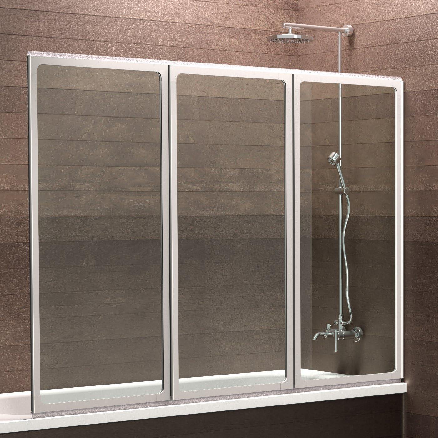 Schulte Mampara de bañera Cristal 3 Piezas 120 x 130 cm Múnich, 1 ...